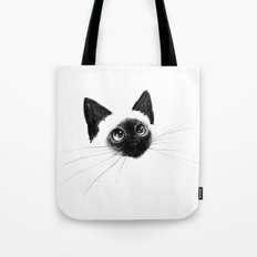 Curious Siamese Kitten Tote Bag