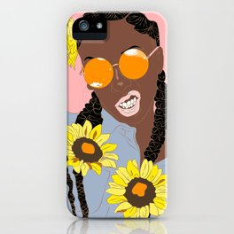 Believe in Yo Juice - Digital Black Goddess Vector Drawing iPhone Case