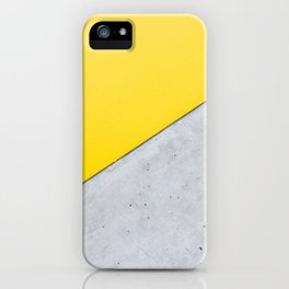 Yellow & Gray Abstract Background iPhone Case