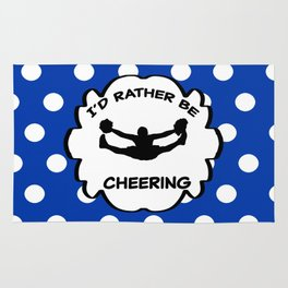I'd Rather Be Cheering Design in Royal Blue Rug