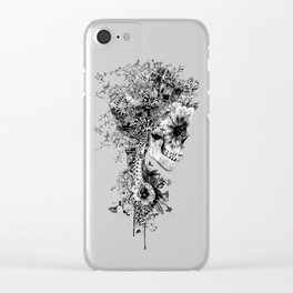 Skull BW Clear iPhone Case