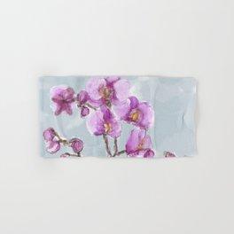 Watercolor Orchids Hand & Bath Towel