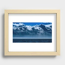 Double Cloud Sky Recessed Framed Print