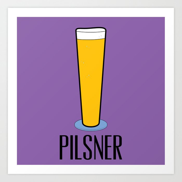 Beer Glasses (Pilsner) Art Print