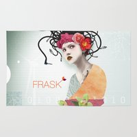 techno Area & Throw Rugs featuring FRASK techno by Fraskdesign