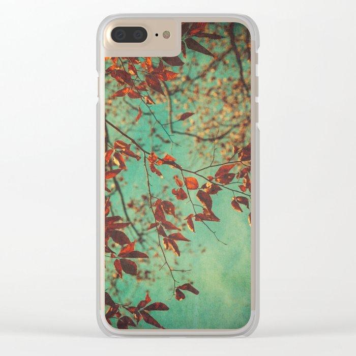 Autumn Beech Tree Clear iPhone Case