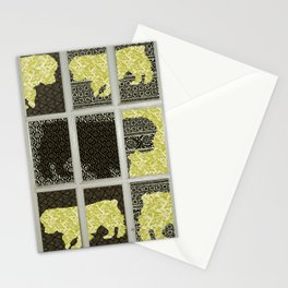 dog window collage Stationery Cards