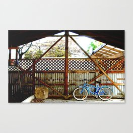 blue bike series 2.0 Canvas Print