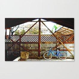 blue bike series 2.0 Canvas Print