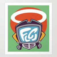 flcl Art Prints featuring Canti by KogiZoné