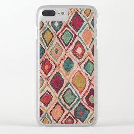 V38 EPIC ANTHROPOLOGIE MOROCCAN CARPET TEXTURE Clear iPhone Case