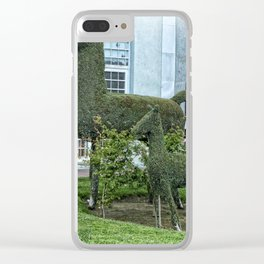 Horse and Foal Topiary Clear iPhone Case