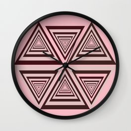 6 OP Triangles Millenial Pink Wall Clock