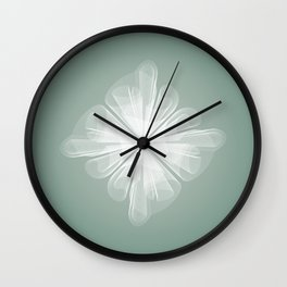 White Tulle Wall Clock