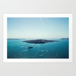 Blissful Life on the Aegean Art Print