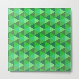 Green hexagons Metal Print
