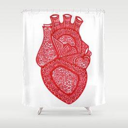 Anatomically Correct Heart Design Shower Curtain