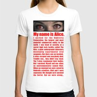 resident evil T-shirts featuring RESIDENT EVIL- MY NAME IS ALICE by Robin Stevens