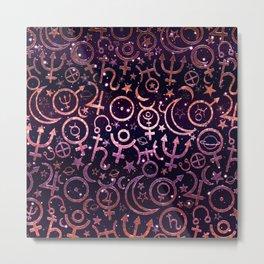 Purple Planetary Signs Metal Print