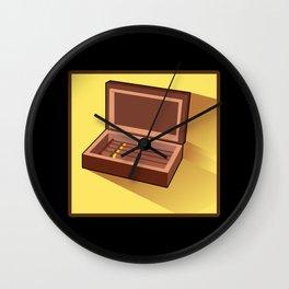 CIGAR HUMIDOR Cigar Aficionado Gift Cigar Smoker Wall Clock