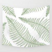 fern Wall Tapestries featuring fern  by Bonnie Durham