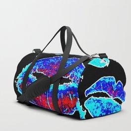 Kisses All Over (Blue) Duffle Bag