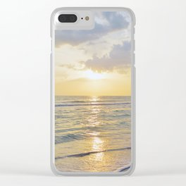 Summer Daze - Florida Sunset Clear iPhone Case