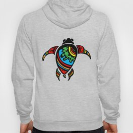 Colorful Abstract Tribal Sea Turtle Hoody