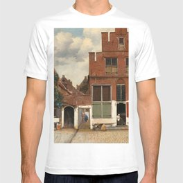"""Johannes Vermeer """"View on Houses in Delft (also known as 'The Little Street')"""" T-shirt"""