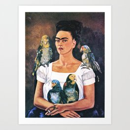 Frida Kahlo Birds Art Print