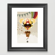 Chestnut Girl Balloon!!! Framed Art Print
