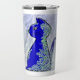 Leafy Cat Travel Mug