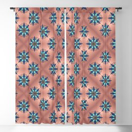 Mandala Pattern on Copper Blackout Curtain