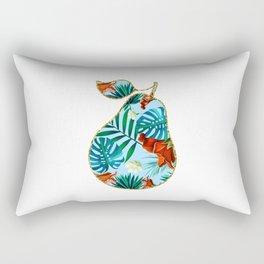 Floral Glitter Pear Rectangular Pillow