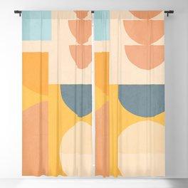 Minimal Geometric Shapes 156 Blackout Curtain
