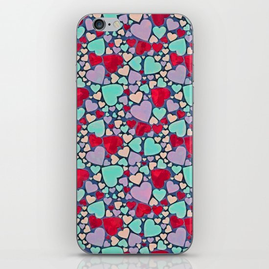 Sweet hearts mosaic pattern iPhone Skin