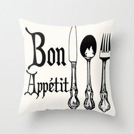 Bon Appétit! Throw Pillow