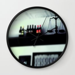 bottles and scales  Wall Clock