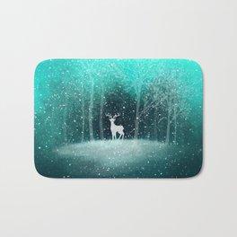 Deer in the Dark Forest Bath Mat