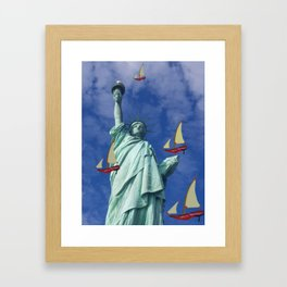 Racing to Freedom with May - shoes stories Framed Art Print