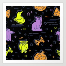 Halloween Pattern 2 Art Print
