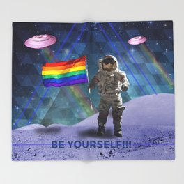 BE YOURSELF - PRIDE Throw Blanket