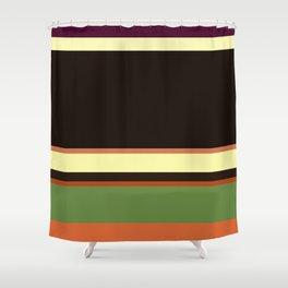 Plain color layer cake pop art print Shower Curtain