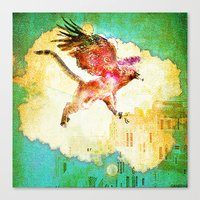 mythology Canvas Prints featuring Gryphon mythology by Joe Ganech