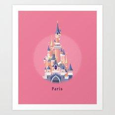 Paris Disneyland Castle Art Print