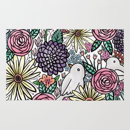 Flowers, Birds & A Heart Rug