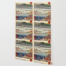 Hiroshige - 36 Views of Mount Fuji (1858) - 26: The Ōi River between Suruga and Totomi Provinces Wallpaper