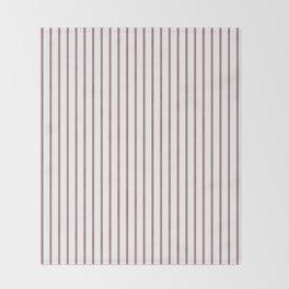 Princess Plum Pinstripe on White Throw Blanket
