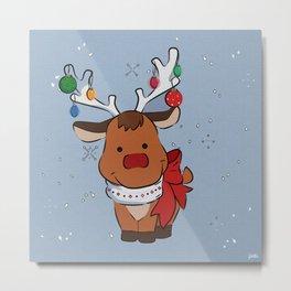Christmas Baby Reindeer Metal Print