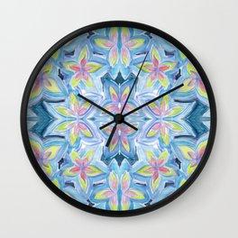 Floral Kaleidoscope Wall Clock